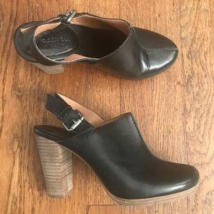 Madewell slingback high heel clog shoes platform 7